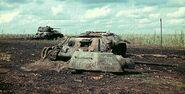 Destroyed T-34s, Belgorod 1943