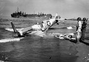 American Spitfire shot down at Paestum, 1943.jpg