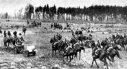 Polish cavalry brigade Wielkopolska advancing, Bzura 1939