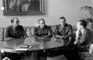 Vlasov and Zhilenkov with Goebbels