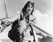 Major Robert W. Aschenbrener in the cockpit of a P-38, 1944