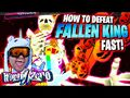 How To DEFEAT Fallen King BOSS *FAST* in World Zero Halloween Event Part 2 on ROBLOX !