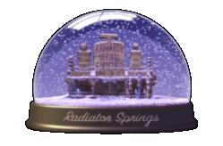Radiator Springs Snow Globe Souvenir