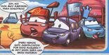 Timothy Twostroke, Matthew True Blue McCrew, Polly Puddlejumper. Cars Magazine N·23, comic 3.