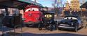 Red, Lizzie and Sheriff - Cars 3
