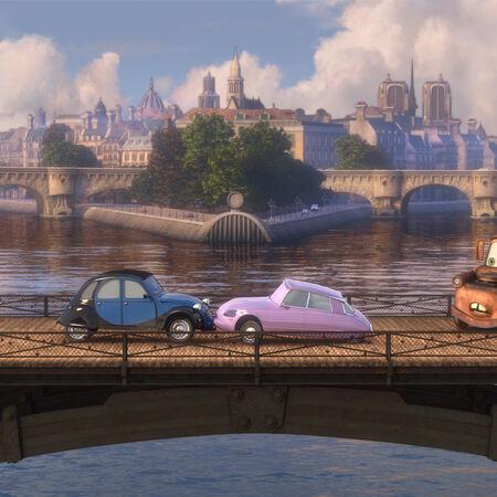 Mater bridge romance Cars 2.jpg