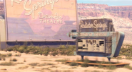 Radiator Springs Drive-In Theatre during the day