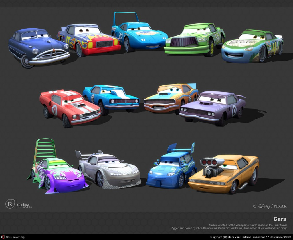 Cars: The Video Game/Beta elements