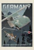 Planes vintage poster germany