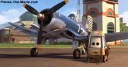 Disney Pixar Cars -Air Mater -Skipper with his Pitty