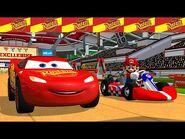 Cars Toons ⚡️Lightning McQueen Vs Mario Kart race day!