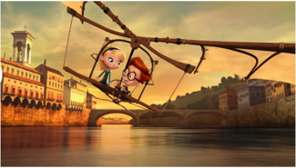 《Mr. Peabody & Sherman》一片中的片段,同時可表示友情或愛情
