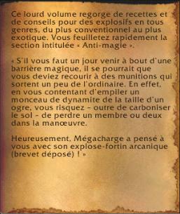 Livre de cuisine de Mégacharge