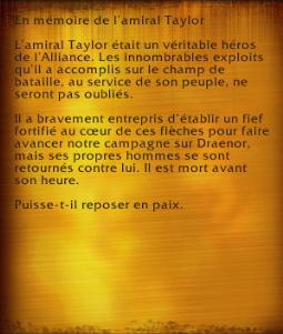 Amiral Taylor (objet)