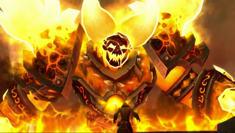 Thrall et Ragnaros.png