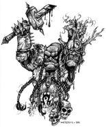 Doomhammer présente la tête de Main-noire