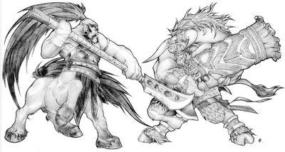 Tauren vs Centaur.jpg