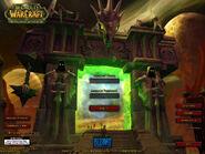 The Burning Crusade - экран при входе в игру