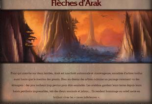 Flèches d'Arak