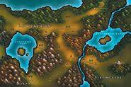 Kort over Lordaeron Warcraft III