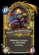 Gelbin Mekkadrill Hearthstone (Gold)