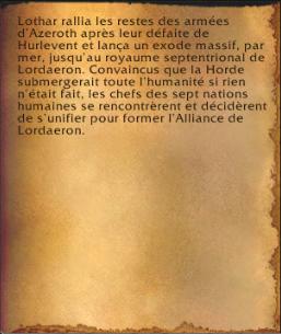 L'Alliance de Lordaeron (livre)