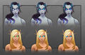 Void Elf and Blood Elf blue eyes customization female