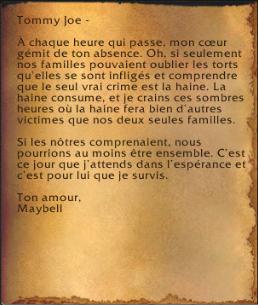 Lettre d'amour de Maybell