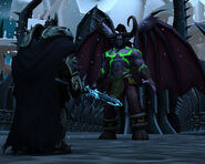 Arthas and Illidan 1st Pass by Kjasi