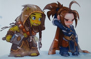 Thrall et Varian Snowfigth