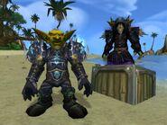 Cataclysm Goblin Warlock and Hunter