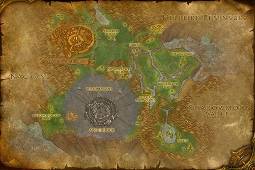 Terokkar Forest map