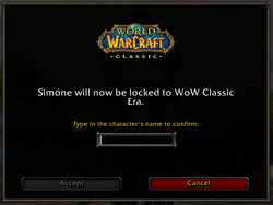 Classic expansion choice - Classic Era confirm.png