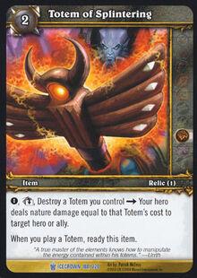 Totem of Splintering TCG Card.jpg