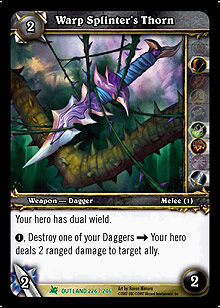 Warp Splinter's Thorn TCG Card.jpg