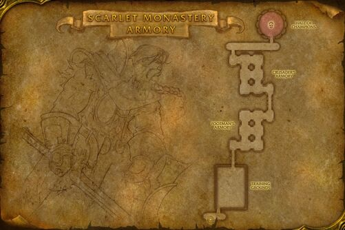 Scarlet Monastery Armory map