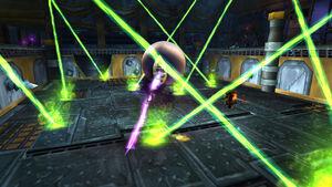 Zen'shar in combat at Bizmo's Brawlpub in the Brawler's Guild