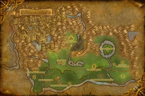 Elwynn Forest map