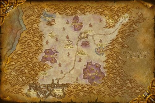 Silithus map