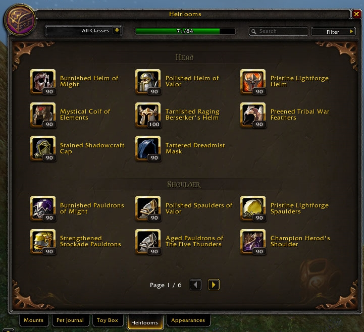 Heirloom Wowpedia Your Wiki Guide To The World Of Warcraft