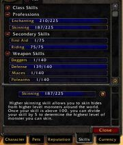 Skills Tab Wowpedia Your Wiki Guide To The World Of Warcraft