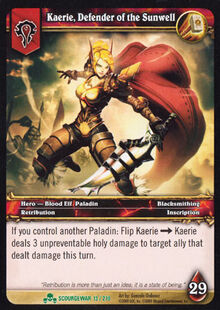 Kaerie, Defender of the Sunwell TCG Card.jpg