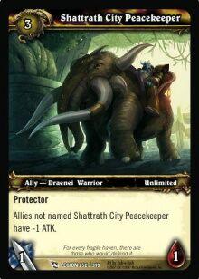 Shattrath City Peacekeeper TCG Card.jpg