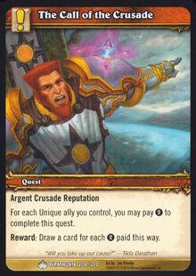 The Call of the Crusade TCG Card.jpg