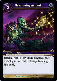 Heartening Arrival TCG Card.jpg