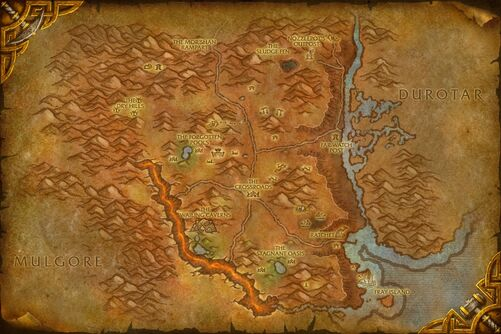Northern Barrens map