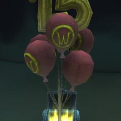 Red Anniversary Balloons