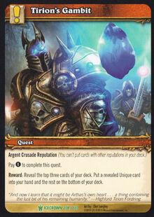 Tirion's Gambit TCG Card.jpg