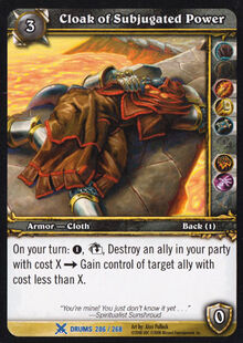 Cloak of Subjugated Power TCG Card.jpg