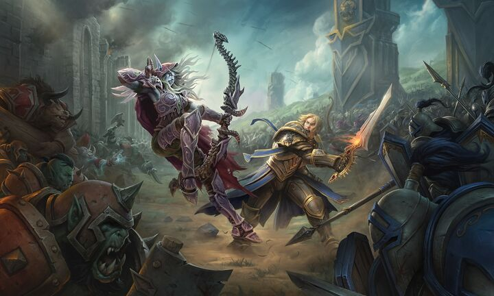 Sylvanas vs Anduin Capital City BfA.jpg